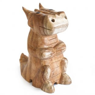 Wooden Carved Incense Burners - Dragon (2 sizes)